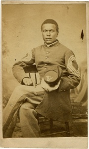 John Wilson, a painter from Cincinnati, Ohio, had this portrait made a month after he was promoted to sergeant major in May 1864