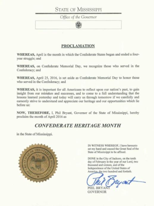Confederate Heritage Month