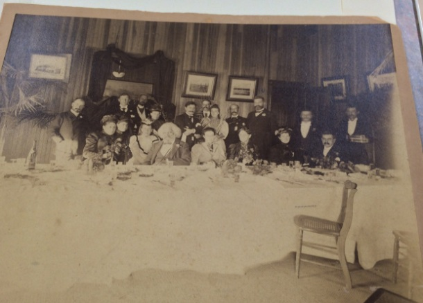 cropped _ FD seated at a dinner table, looks to be late in his life -- SmithsonianAnaCommunityMuseum